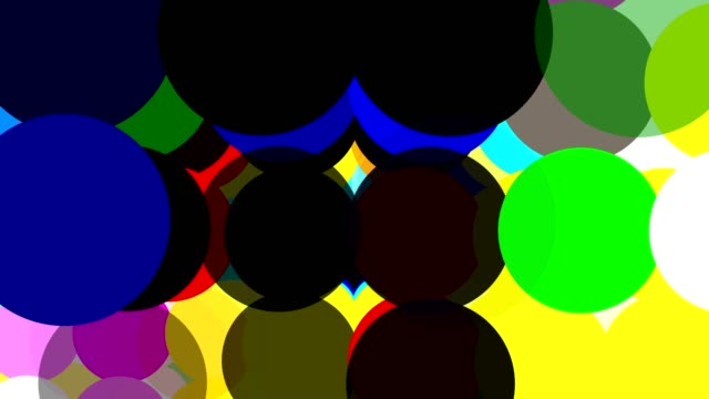 Animated graphics bubbles, dots or balls, pop color change transition effect