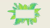 istock Animated green frame with hand drawn leaf 1161462064