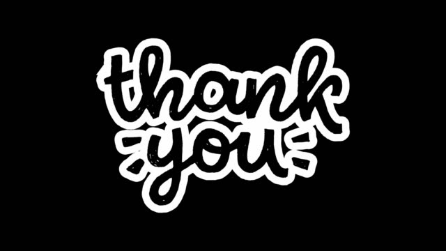 Animated handwriting Thank You alpha channel Animated lettering script Thank You on transparent background. Ultra HD motion graphic with hand drawn text of appreciation. Moving black handwritten phrase with thanks for ecard, message, web site thank you stock videos & royalty-free footage