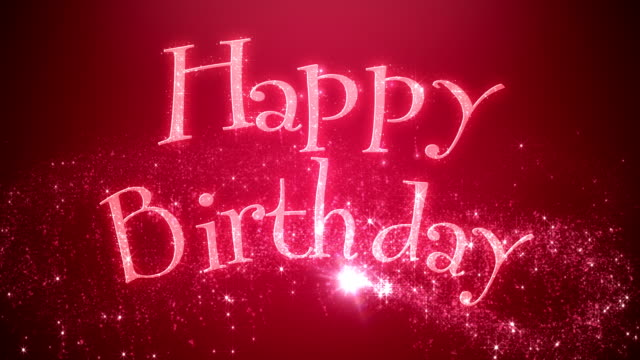 Animated Happy Birthday Message Red video