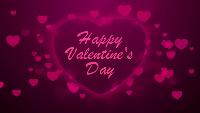 animated heart with text happy valentines day video - Happy Valentines Day Animation