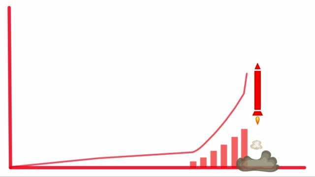アニメーションインフォグラフィックスの起動に成功 - 営業点の映像素材/bロール