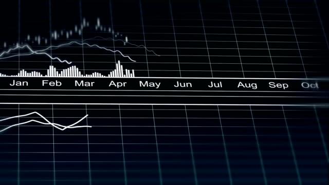 stockvideo's en b-roll-footage met geanimeerde lijndiagram demografische statistieken gegevens, analytische grafiek vertegenwoordigen - bedrijfsstrategie