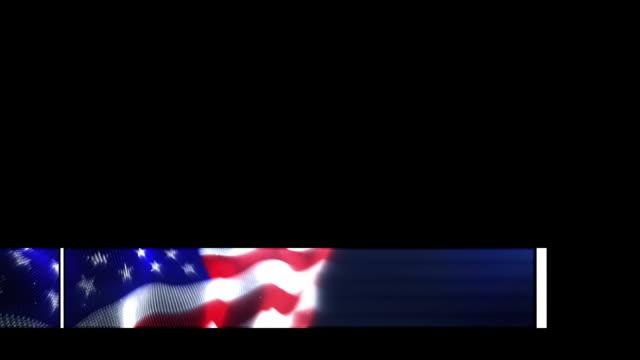 animowane dolna jedna trzecia-amerykańska flaga (z kanału alfa - us flag filmów i materiałów b-roll