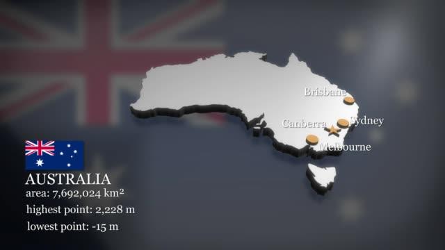3D animierte Karte von Australien – Video