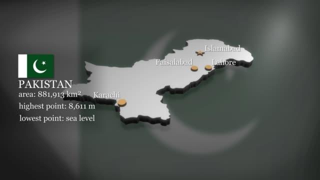 3D animierte Karte von Pakistan – Video