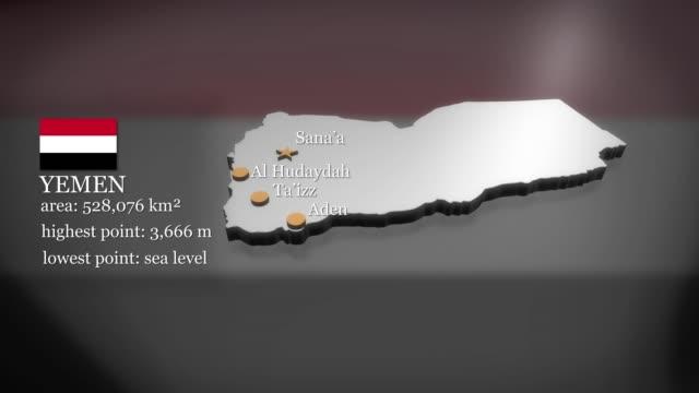3D animierte Karte von Jemen – Video