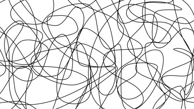 sfondo doodle animato opaco - scarabocchio motivo ornamentale video stock e b–roll