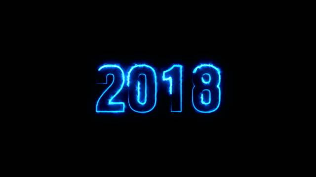 vidéos et rushes de animé nouvel an 2018 - burning fire - 2018