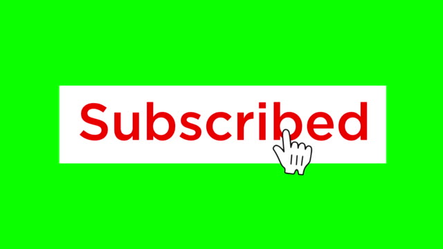vídeos de stock, filmes e b-roll de animação de clicar em inscrever-se no botão na tela verde - distintivo
