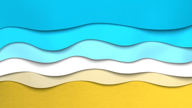 Animated paper backgrounds (Loop 4k). Cartoon nature.