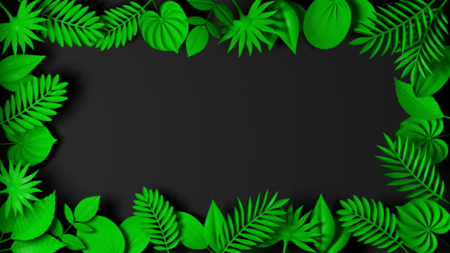 Animated paper backgrounds - Loop 4k . Cartoon nature.