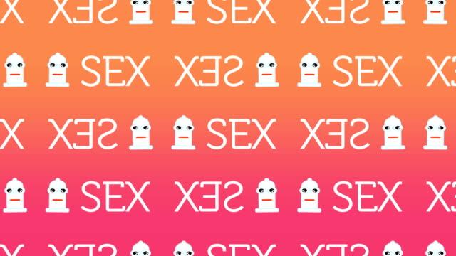 animiertes muster repräsentieren ein glücklich kondom für sexuelle sicherheit - familienplanung stock-videos und b-roll-filmmaterial