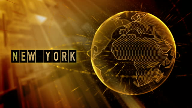 animated planet earth with the title New York city video