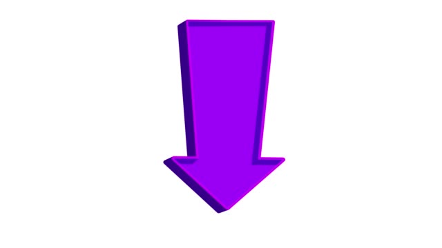 Animated purple arrow pointing down on a white background