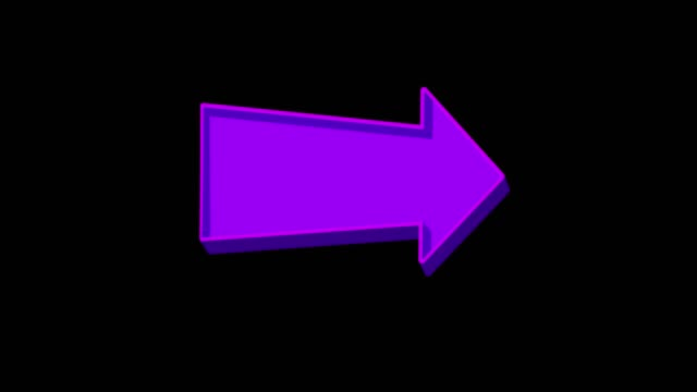 Animated purple arrow pointing right on a black background