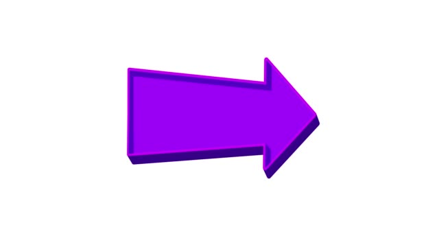Animated purple arrow pointing right on a white background