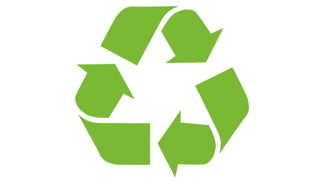 animated recycling logo - логотип стоковые видео и кадры b-roll