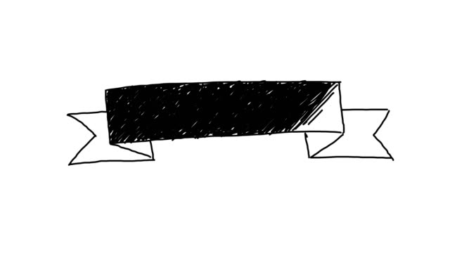 Animated Ribbon Background Sketch Style video