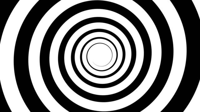 animierter bildschirmschoner nahtlos geschleift. hypnotische spirale steigt von der mitte des bildschirms. - dekorative kunst stock-videos und b-roll-filmmaterial