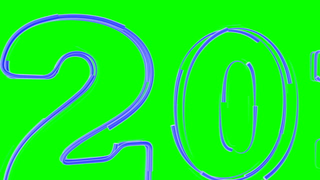 Animated sketch from the emerging 2018 Computer animated sketch from the emerging inscription 2018 New Year screen saver on a green background multiple image stock videos & royalty-free footage