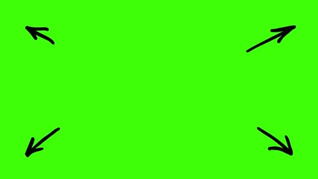 hareketli çizimler - oklar - arrows stok videoları ve detay görüntü çekimi