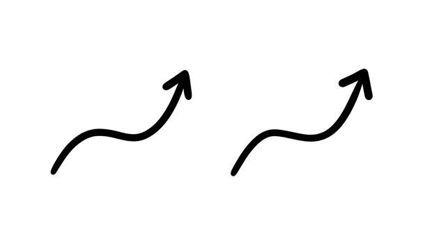 анимированные эскизы - стрелки - arrow стоковые видео и кадры b-roll