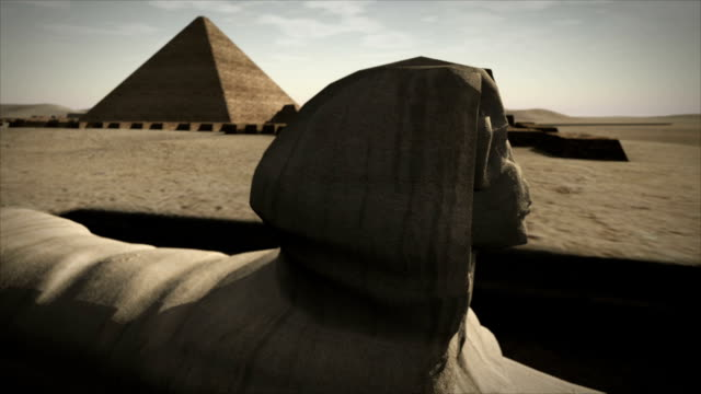 Animated Sphinx at the Giza platform, Egypt video