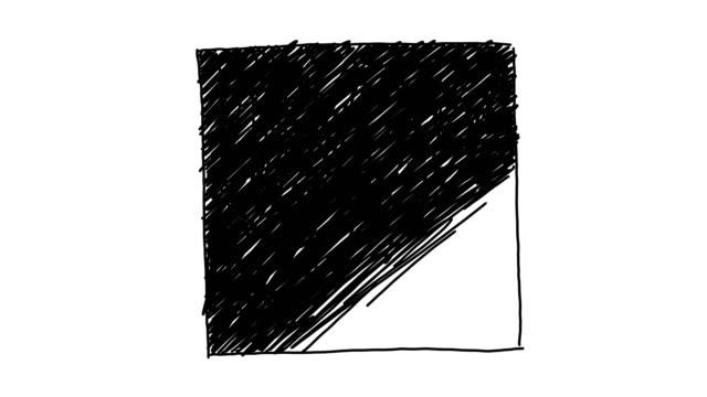 vidéos et rushes de fond carré animé - contour