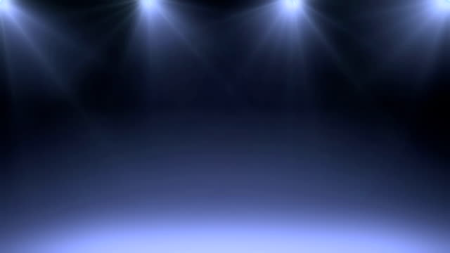 Animated stage spot lighting background. video