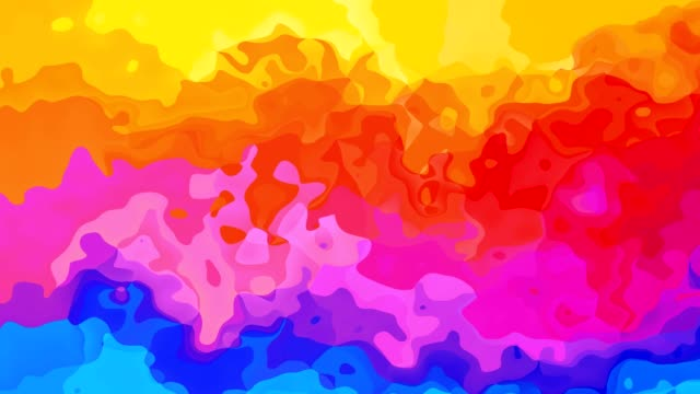animated stained background video - full spectrum colors - horizontal rainbow - sfondo multicolore video stock e b–roll