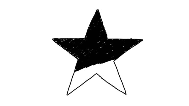 Animated Star Background Sketch Style video