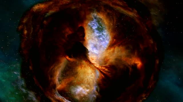 animierten stern bilden region in cygnus schwan - sternennebel stock-videos und b-roll-filmmaterial