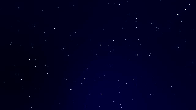 Animated stars on dark blue sky
