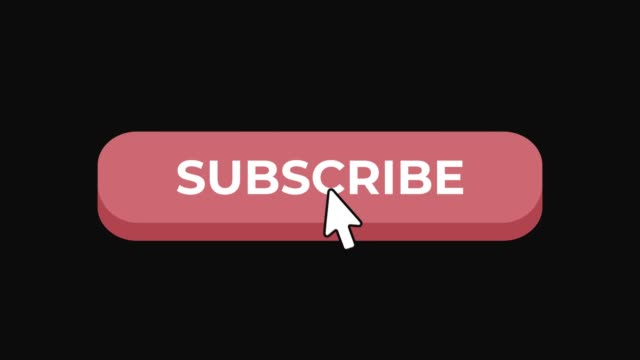 animated subscribe button click for social media in 4k - newsletter video stock e b–roll