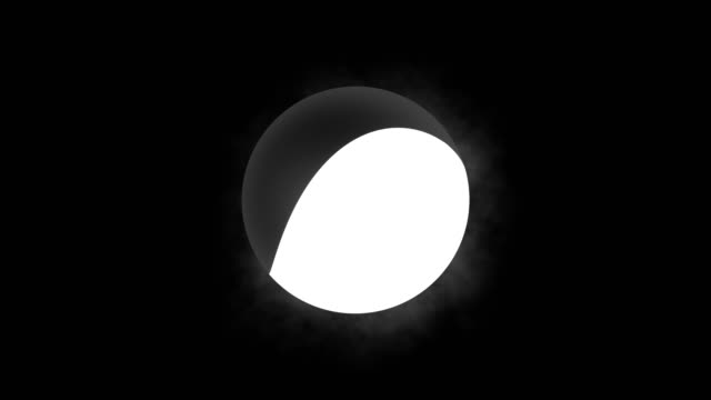 Animated symbol Tai-chi on black background.