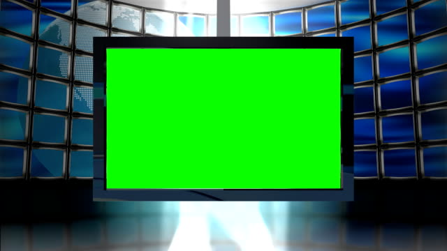 HD Animated Television Monitor with globe background Loop video