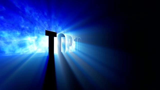 top 10 titoli animati - sezione superiore video stock e b–roll