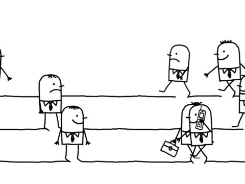 animated walking businessmen video