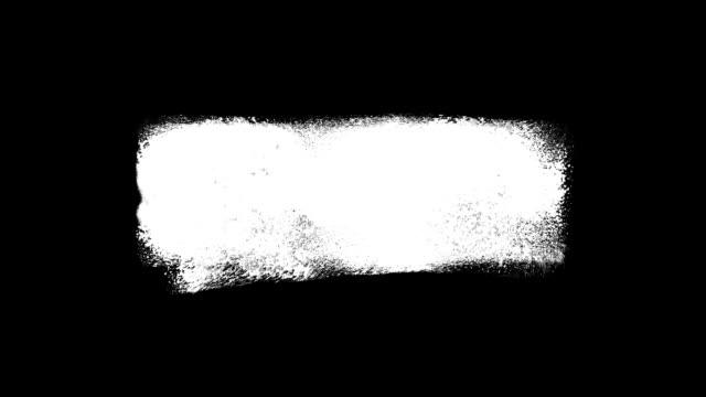 vídeos de stock e filmes b-roll de animated watercolor brush line banner - dar murros