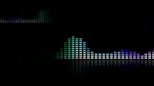 Animated waveforms and music VU meters. Seamless loop-able video