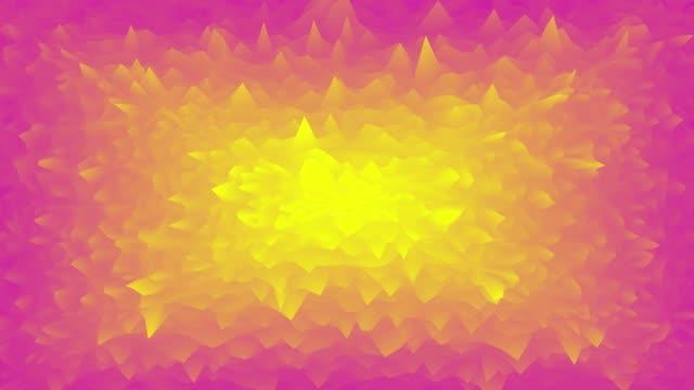 stockvideo's en b-roll-footage met cg geanimeerde golvende rimpelingen achtergrond. rood en geel verloop naadloos lus motion ontwerp. 3d-rendering. - visuele hulpmiddelen