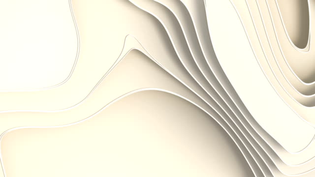 Animated white paper cut abstract background. 3d rendering digital loop animation. HD resolution