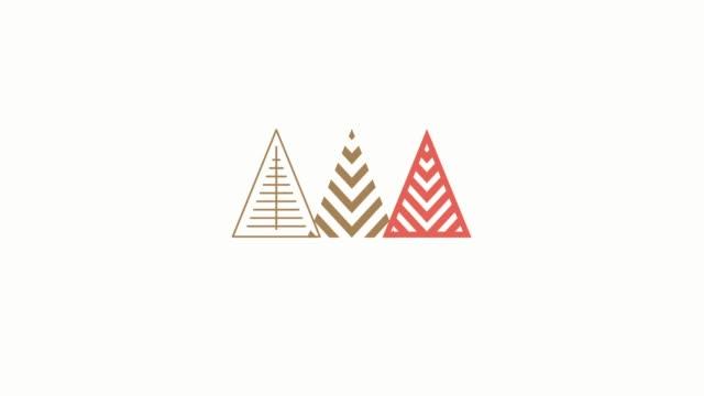 アニメーション冬の休日のグリーティング カード - アイコン プレゼント点の映像素材/bロール