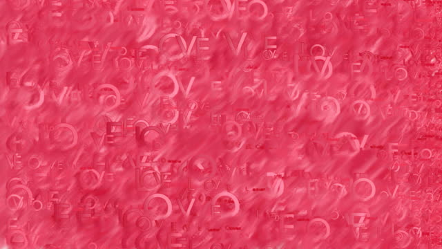 vidéos et rushes de animation de mots amour simple fond rouge - image teintée