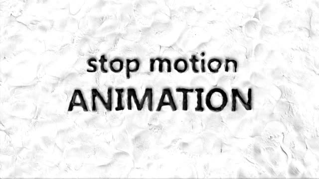 Animated words: stop motion animation