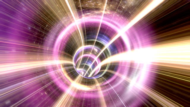 Animated wormhole through space video