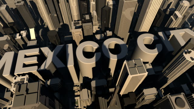 animation 3d from the name of city mexico video
