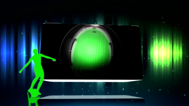 vídeos de stock e filmes b-roll de montagem de animação e de futebol - tv e familia e ecrã