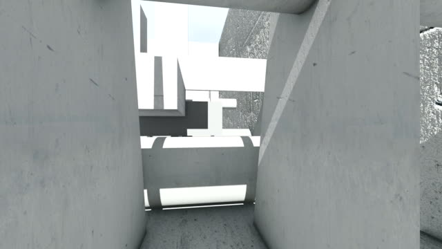 3 d アニメーションと抽象の具体的な形のレンダリング - セメント点の映像素材/bロール